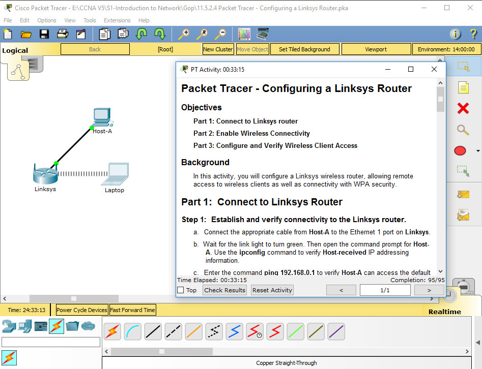 11 5 2 4 Packet Tracer Configuring A Linksys Router